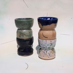 Tower of Morning Set of stoneware cups, multiple glazes (2013) Available, get in touch if interested