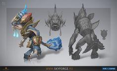 Skyforge - иллюстрации из игры на Riot Pixels