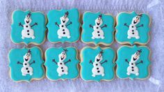 Olaf sugar cookies, perfect take home treat and look fab on your Frozen party dessert table!