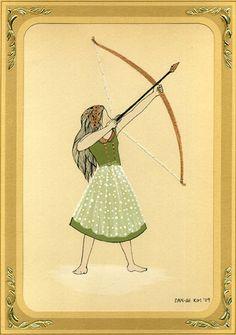 "dan-ah kim - ""artemis as a young girl"" - october at metropolis gallery | Flickr - Photo Sharing!"