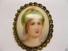 Josephine Bonaparte Miniature Portrait & Brooch