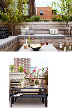 A Homepolish interior decorator can still have plenty of fun with the exterior. Check out some of our favorite outdoor spaces and prepare to spend the season in style. Modern Backyard Design, Small Backyard Patio, Backyard Patio Designs, Diy Patio, Patio Ideas, Backyard Ideas, Patio Images, Outdoor Living Rooms, Living Spaces