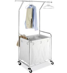 Add versatile clothing storage and organization to your home or hotel laundry room with this Laundry Center. Laundry Nook, Laundry Cart, Laundry Center, Commercial Laundry, Pantry Closet, Clothing Storage, Bathroom Furniture, Wardrobe Rack, House Design