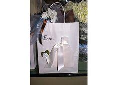 Party favor bag for the bride at her bridesmaids' luncheon Bridal Luncheon, Party Favor Bags, Bridesmaids, Brunch, Wedding Ideas, Events, Tea, Shower, Rain Shower Heads