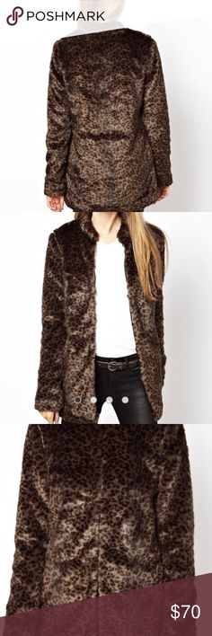 c6e7ebcfb903f Vera Moda leopard cheetah coat Jacket faux fur First 4 pics are from on  line.