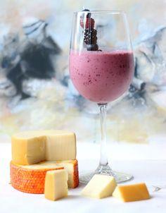 Red Wine Smoothie. Blackberries, blueberries, raspberries, Greek yogurt and your choice of red wine. Cheers:)