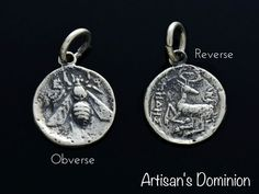 Story: In the ancient world, city of Ephesus was the heart of commerce and an important center for early Christianity. The Honey Bee pendant features an impeccable reproduction of the Ephesus tetradrachm.