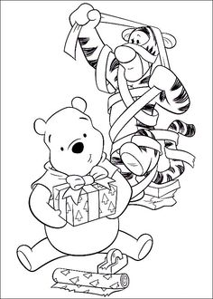 tiger disney merry christmas coloring page see more tigger and pooh