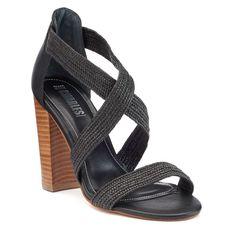 Style Charles by Charles David Echo Women's Block Heel Sandals, Size: 8.5, Black