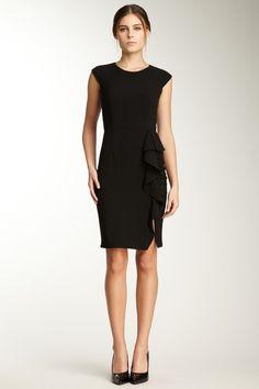 Calvin Klein Cascade Ruffle Skirt Dress