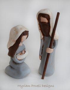Nativity - Clay Nativity - Christmas Nativity - Waldorf Nativity by MyriamPowellDesigns on Etsy https://www.etsy.com/listing/255682009/nativity-clay-nativity-christmas
