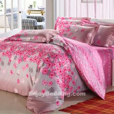 Gray and Pink Bedding Sets - EnjoyBedding.com