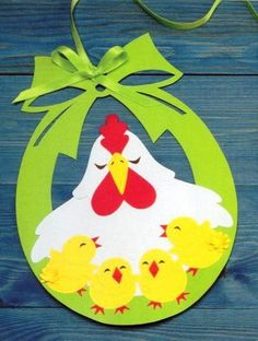 Cute Easter ideas from the paper! Kirigami chicken and rabbits for Easter ornaments and Easter cards. Felt Crafts, Diy And Crafts, Arts And Crafts, Paper Crafts, Easter Art, Easter Crafts For Kids, Easter Ideas, Easter Activities, Spring Activities
