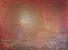 """""""Gyldent landskap"""" Akryl på lerret - 30 x 40 cm"""