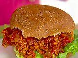 Pulled BBQ Chicken Sandwiches using Rotisserie Chicken. Ellie Krieger.