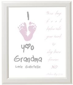 A 60th Birthday Gift for Mom:  Personalized I Love You Grandma Art Print by Print Fusion @ Etsy