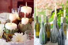 Mesa posta com velas/ candle table decor