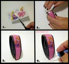 DIY Customization for Disney Magic Bands (in case I ever get to go to DisneyWorld #dreamtrip)
