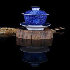 Porcelain Gaiwan 200ml, Kung Fu Tea Cup and Saucer