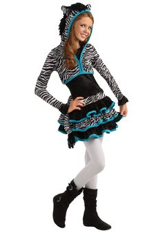 My styling zebra such a simple costume all you need is black and now your girl will be the main attraction in the safari with this tween zebra costume the cute girls animal costume features a unique style that is sure to solutioingenieria Images