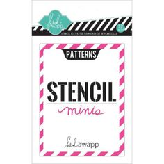 American Crafts - Heidi Swapp - Stencil Mini Kit - Patterns  (find Heidi Swapp's blog for the reveal of these to see all the stencils included)