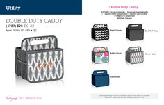 Double Duty Caddy $25  Fall / Winter 2015.  Thirty One Gifts!  Join my FB. group,a place for my Customers and new future Customers!  NO 31 Consultants please! Thanks https://www.facebook.com/groups/221123648035423/