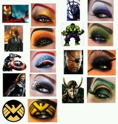 Superhero makeup!