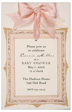 157 best baby shower invitations for girls images on pinterest in frame pink girls baby shower invites filmwisefo