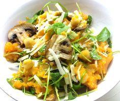 Stamppot van zoete aardappel met postelein. beautiful food, foodblog, foodpic, foodpics, eetfoto's, mooie eetfoto's, foodporn, healthy, food, voedsel, recept, recipe