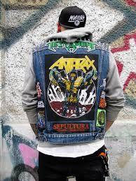 Heavy Metal Fashion, Heavy Metal Art, Rebel Fashion, Mens Fashion, Hard Rock, Oki Doki, Band Jacket, Battle Jacket, Denim Art