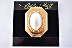 """Vintage Park Lane Geometric Square Dress Scarf Clip Gold Tone Unsigned Retro Costume Jewelry 1.5"""" by DecoOwl on Etsy"""