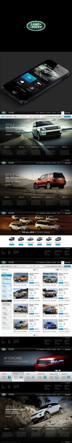 Landrover Farnell web concept, see more of my work - http://www.richard-hill.org.uk/