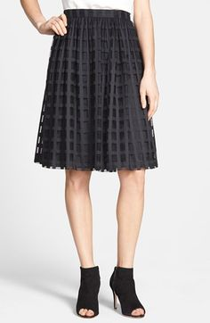 Trina Turk 'Sarita' Windowpane Lace Skirt available at #Nordstrom