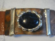 Handmade soldered leather bracelet  $25.00