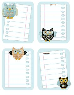 Owl Journal- Free Printable