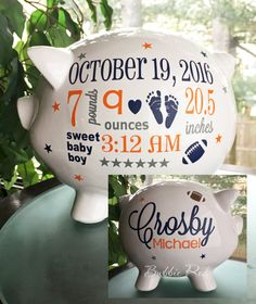Personalized piggy bank baby boy piggy bank baby boy gift piggy denver broncos personalized piggy bank football custom piggy bank baby boy piggy bank baby birth stats gift piggy bank baby gift negle Images