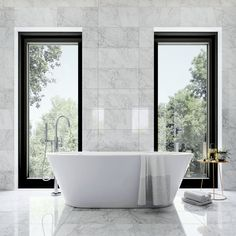 Bathtub and marble Bathroom Interior Design, Home Interior, Dyi, Bathroom Spa, Bathroom Ideas, Bathroom Marble, Bathroom Designs, Home Modern, Home Spa