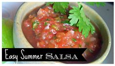 Easy Summer Salsa - my favorite salsa recipe using canned tomatoes.  But the cilantro and lime makes it taste fresh!
