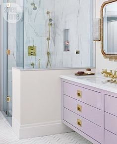 Why are we so Afraid of Color?  {In Kitchens and Bathrooms}