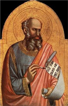 St John the Evangelist - Giotto.  c.1320-25.  Tempera on panel.  80 x 55 cm.  Musee Jacquemart-Andre, Chaalis, France.