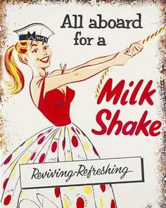 "All aboard for a milk #shake...  ""My milkshake brings all the boys to the yard."""
