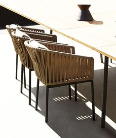 outdoor chairs.  Kettal