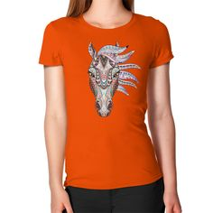 Equestrian Apparel - Ethnic Horse Head - Women's T-Shirt