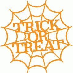 Silhouette Design Store - View Design #96996: trick or treat web