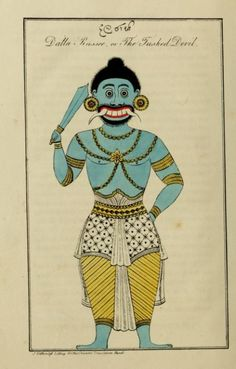 The Tusked Devil. Yakkun nattannaw: a Cingalese poem, descriptive of the Ceylon system of demonology; to which is appended, The practices of a Capua or devil priest; as described by a Buddhist and. History Of Sri Lanka, Folk Religion, Elephant Applique, Pagan Gods, Traditional Flash, Indian Folk Art, Demonology, Madhubani Painting, Illusion Art