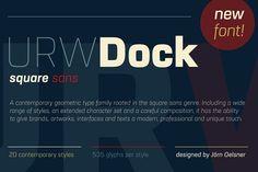 URW Dock Extra Bold Italic @creativework247