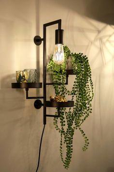 Boho Living Room, Living Room Colors, Home Deco Furniture, Regal Design, Interior Plants, Beautiful Living Rooms, Interior Inspiration, Diy Home Decor, Wall Lights