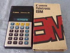Calculatrice-calculator-Palmtronic-Canon-8M-1976-vintage