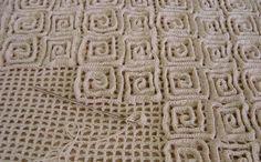 Вязание на филейной сетке