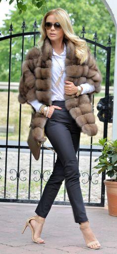 sable furs - exclusive russian sable fur coat - fantastic jacket